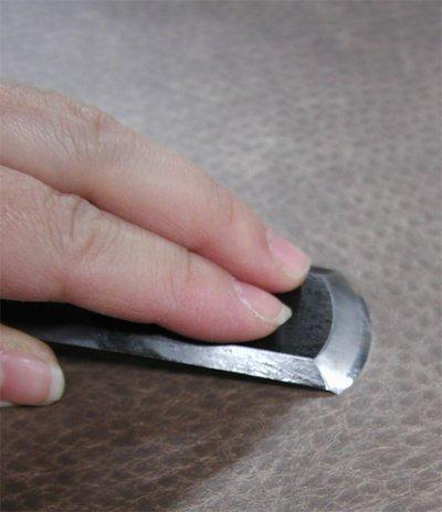 画像3: 革スキ包丁 鋼 日本製