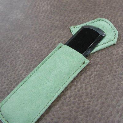 画像2: 革スキ包丁 鋼 日本製