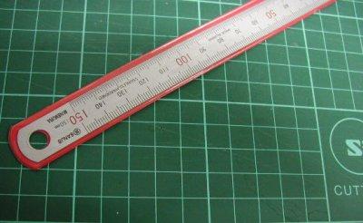 画像1: 150mm 金物定規