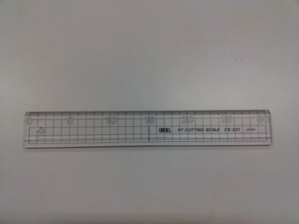 画像1: NTカッティングスケール(アクリル製)CS-301 (1)