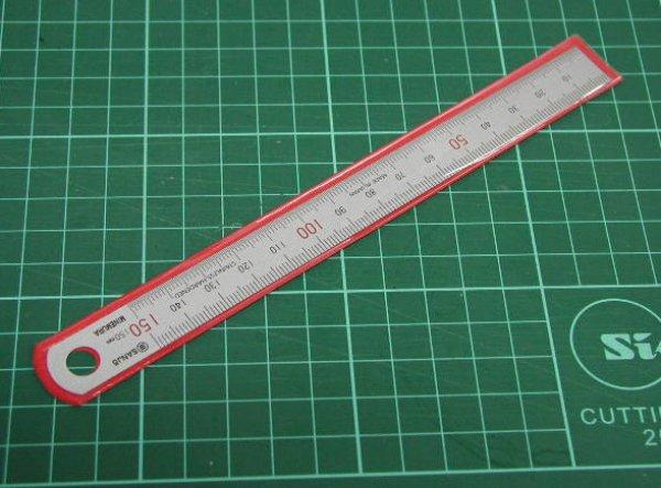画像1: 150mm 金物定規 (1)